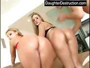 Two Blonde Teen Whores Fucked Good By Daughterdestruction