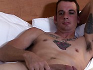 Muscled Amateur Soldier Jerking Cock