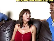 Stepson Rough To Watch Mom Suck Cocks