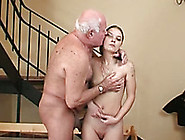 Chubby And Horny Old Man Receives Blwojob From Young Bimbo