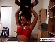 Busty Ebony Schoolgirl Blows Teacher Big Dong