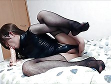 Japanese Trap Fucks Herself With A Dildo No Pixils