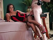 Great Cum On Beautiful Black Stockings