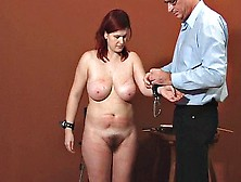 Mature Redhead Milf With Big Tits Comes For Bdsm Casting