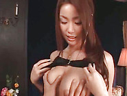 Astounding Asian Bimbo With Nice Tits Is Doing Handjob
