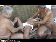 2 Old Men Having Fun With Very Old Bbw Granny !