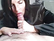 Mature Woman Is Sucking Her Client's Dick For Money,  Becaus