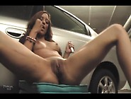 Masturbating Hot Pussy In Underground Garage