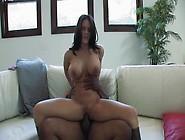 Huge Boobed Brunette Slut Rides A Meaty Black Cock For A Deep Po