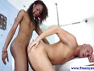 Black Shemale Tgirl Gets Ass Fucked