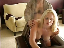 Lusty Blonde Vixen Has A Cigarette While Getting Her Tailpi