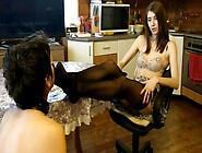 Amateur Mistress In Lingerie Gets Her Feet Sniffed By Her Asian