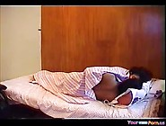 Big Boobed Indian Teeny Has Oral And Cowgirl Sex On The Bed 2