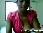 Stunning Bigtits Latina Stripping Onto Her