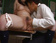Busty Japanese Teacher Gets Fucked By Her Macho Man