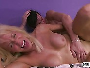 Mature Blonde Milf Comforts Her Shemale Husband River Stark And