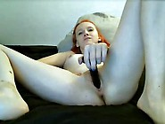 Read Hair Girl Fucks Pusy With Dildo And Cums