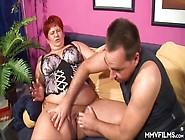 Chubby Mature Redhead Bbw Has Dildo Foreplay