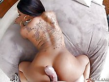 White Dick Is Rubbed Against The Beautiful Bubble Booty Of Black