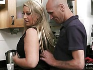 Engaged Guy Nails Chubby At The Kitchen