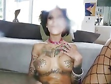 Tatted Bimbo Gets Used