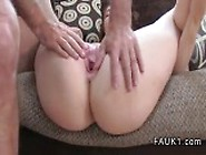 British Brown Haired Amateur Deep Throats On Casting