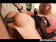 Black Cock Penetrates And Stretched Arcadia Davida's Anal Hole