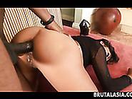Black Cock Penetrates And Stretched Arcadia Davida's Anal Hole