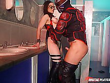 Masked Woman Was Eager To Suck A Dick And To Get Fucked In A Pub