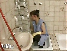 German Mature Cleaning Piss At Pornoxo