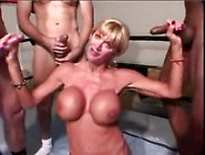 Utah Sweet Gets Face And Fake Tits Cummed On In Blowbang.