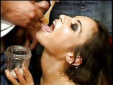 Post orgasm handjob cumshot