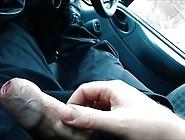 Panties,  Stockings And Cum In A Dirty Work Van