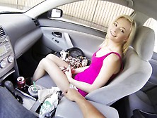 Petite Blonde Hitchhiker Surrenders Her Hot Honey Hole To A Hung