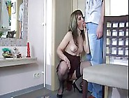 Russian Mature Woman,  Martha Is Sitting On The Chair And Masturb