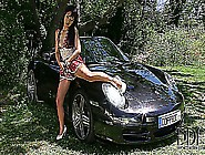 Marica Hase Squirts All Over Her Porsche