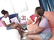 Pussy Eating Ebony Sluts Pull Out A Strap On Video