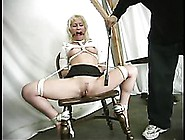 Blonde Chrissy Sparks With Sexy Bare Ass And Neat Snatch Gets Bo