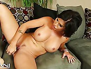 Big Titted Milf With Dark Hair And Green Eyes Is Toying Her Pier