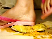 Paula And Lynne Crushing With Hawaianas Flip Flops