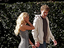 Cute Long Hair Blonde Walking Home Then Enjoying Pussy Licking