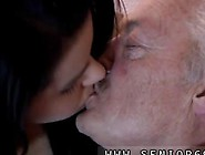 Old Man Gets To Kiss With The Sexy Teen