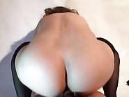 Reverse Cowgirl Anal Creampie.  Wild Polish Girl.  Pov Cum Closeup