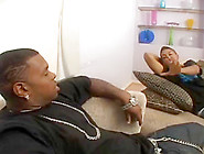 Sexy Chubby Black Girl In Hot Threesome Action