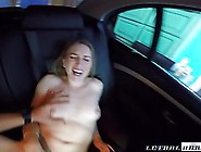 After A Working Day A Kinky Girl Is Fucked On The Back Seat Of H