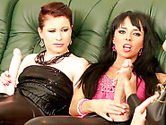 Two Women Seduce Their Sexy Female Friend Into A Hot,  Messy Lesb