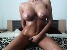 Busty Mfc Girl Doing Oil Show