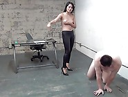 Goddess Angelina Cruel Business Woman Busts Balls Asian