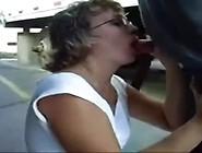 Real Amateur Wife Public Blowing Trucker