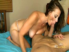 Big Cock Sucked On By A Beautiful Milf Babe
